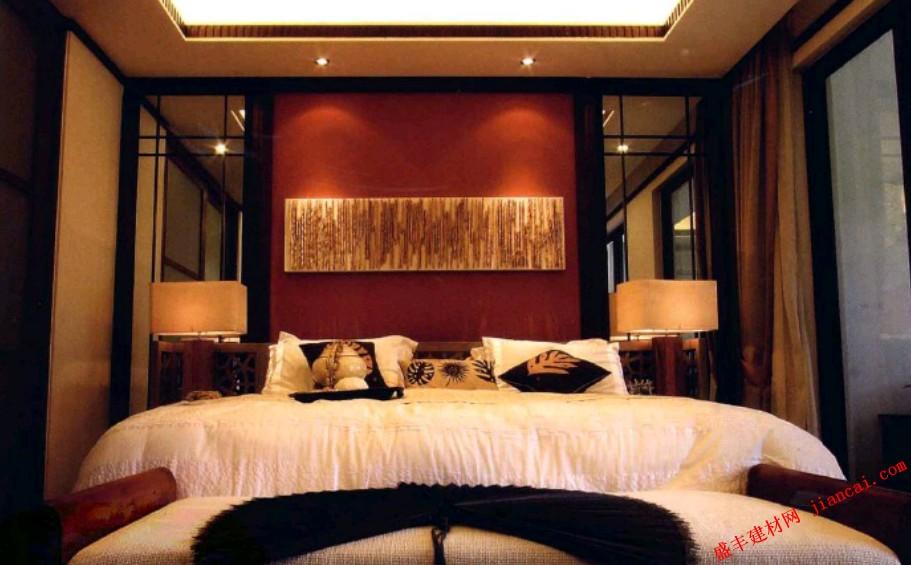 新中式风格的卧室