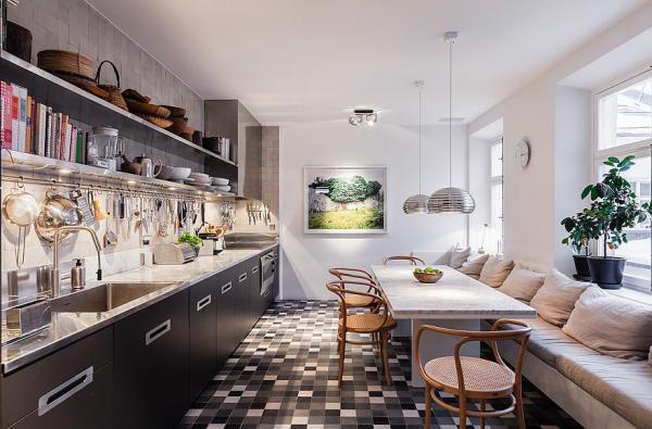 斯德哥尔摩复式楼舒适的室内设计