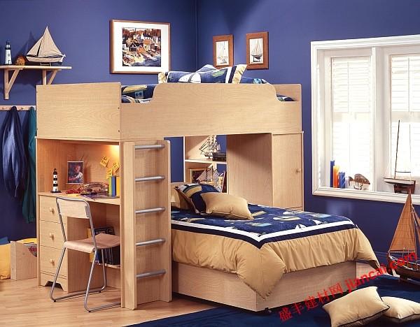 床_高架床配有书桌 空间设计新助手