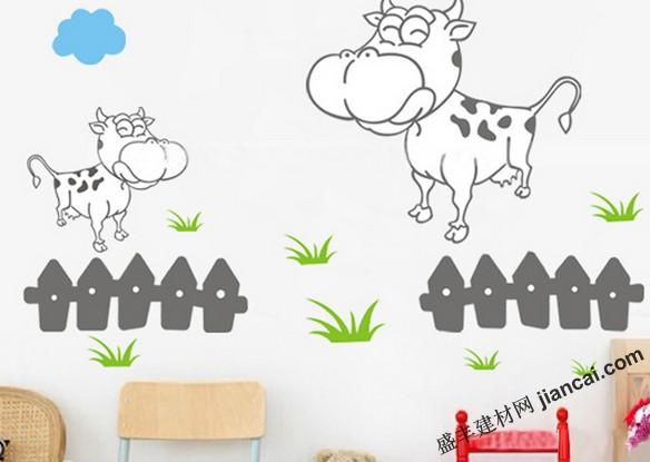 活泼可爱的儿童房墙面设计