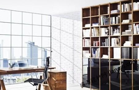 带玻璃的时尚书房设计图片