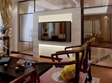新中式风格的电视背景墙设计