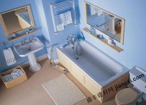 蓝色的卫浴室设计