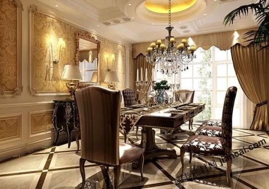 新古典主义的装修风格,可以说是一种综合型的选择方式,将充满魅力的浪漫情怀与现代气息相交织融合,华贵典雅与时髦现代相辅相成,反映出后了工业时代的个性化美学观念和文化底蕴。餐厅的装饰规划,无论是家私还是配饰均体现出了其典雅、唯美的特性,平缓而赋有内在的气韵,