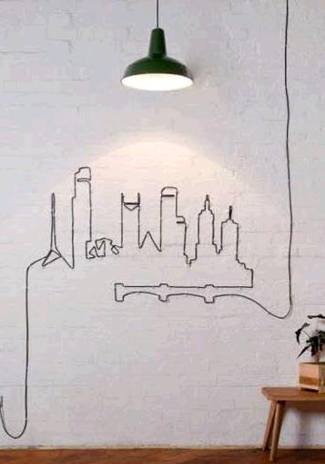 室内电线的创意缠绕 带来美妙的生活享受