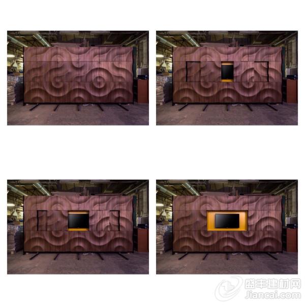 手工制作的3d木质墙面装饰