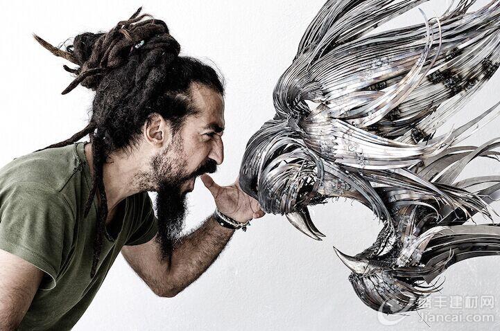强而有力的动物雕塑 –