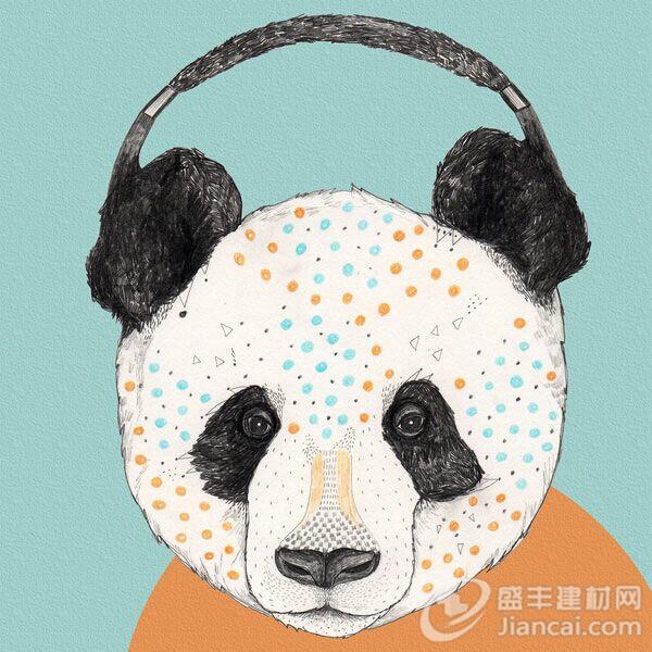 设计的熊猫的产品