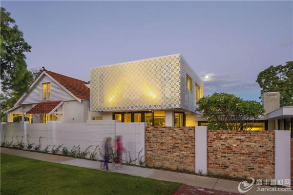穿孔的建筑外观重新定义传统设计