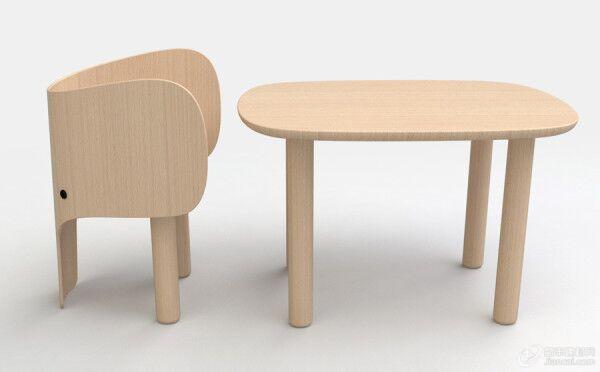 大象椅子和桌子