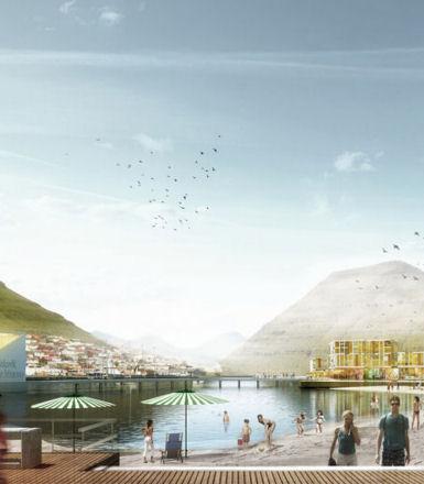 拉森建筑师夺得上半年十大城市中心在法罗群岛的比赛
