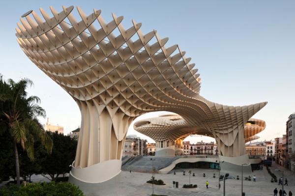 木制建筑metropol阳伞