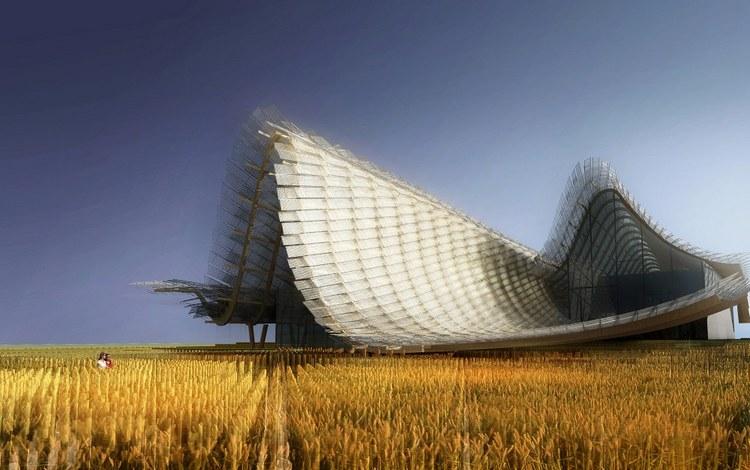 2015年米兰世博会中国馆 云一样的建筑