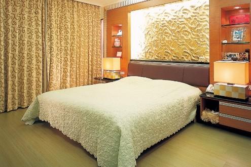 木制窗花体现中国风室内设计