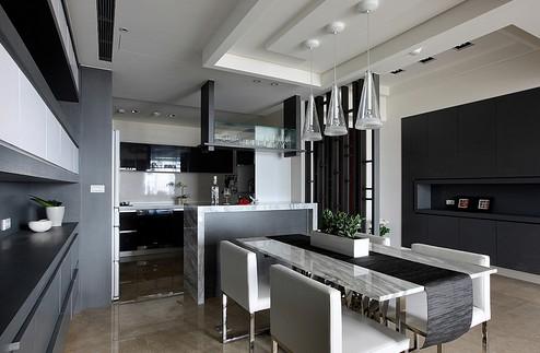 室内设计黑白灰组成的简洁色调图片
