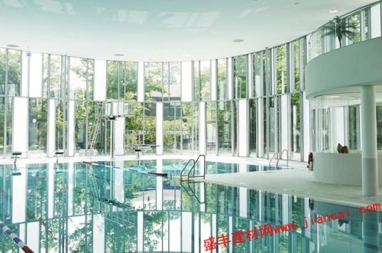 德国图纸室内游泳池实木门玻璃橱柜图片