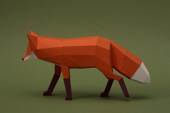 复杂3d哺乳动物折纸