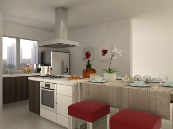 现代风格的厨房设计