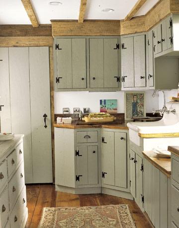 在这个古老的农家厨房的样子,他们可能是原件.