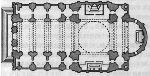 罗马耶稣教堂平面图