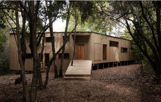 智利古老森林木制别墅