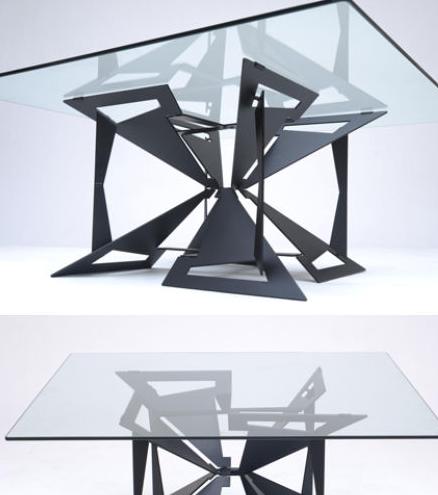 展开室内设计折纸风格的家具