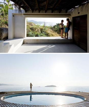 海滨房子的屋顶露台泳池设计
