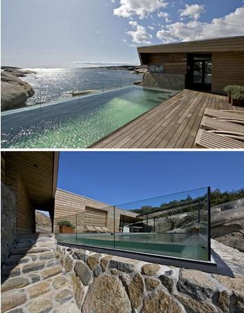 海洋岩石海滩的房子