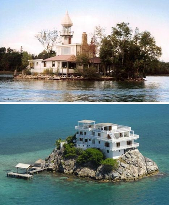 小型私人岛屿的豪华家园