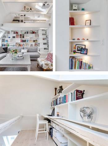 斯德哥尔摩小阁楼空间设计