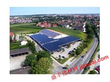 停车场的太阳能发电厂