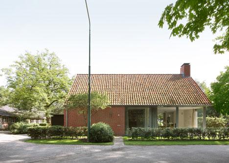 荷兰乡村的红砖房