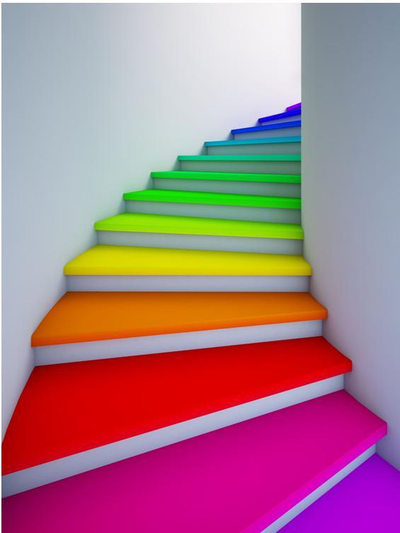 上楼梯手绘效果图