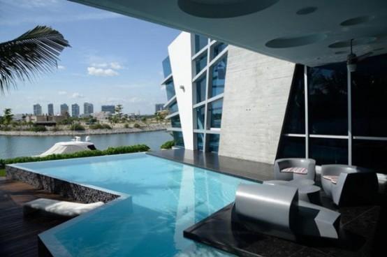 这未来房子位于墨西哥坎昆,由一个工作室设计.图片