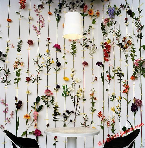 花墙纸和窗帘的搭配