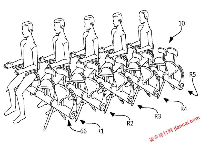 折叠飞机座椅 空客的新专利