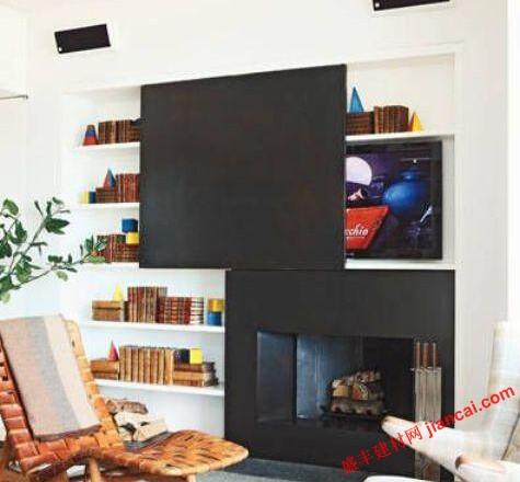 隐藏电视墙面装饰面板的设计是聪明的,有吸引力的,节省空间的解决方案