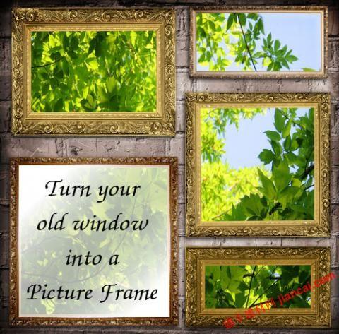 旧窗户成为相框的设计