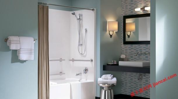 有些家庭,每间卧室都有一间浴室,房间可能不那么大,但设计有灵活图片
