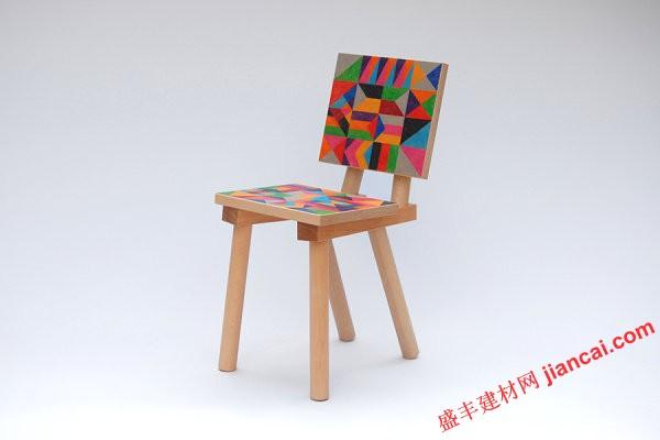 木头凳子彩绘图片
