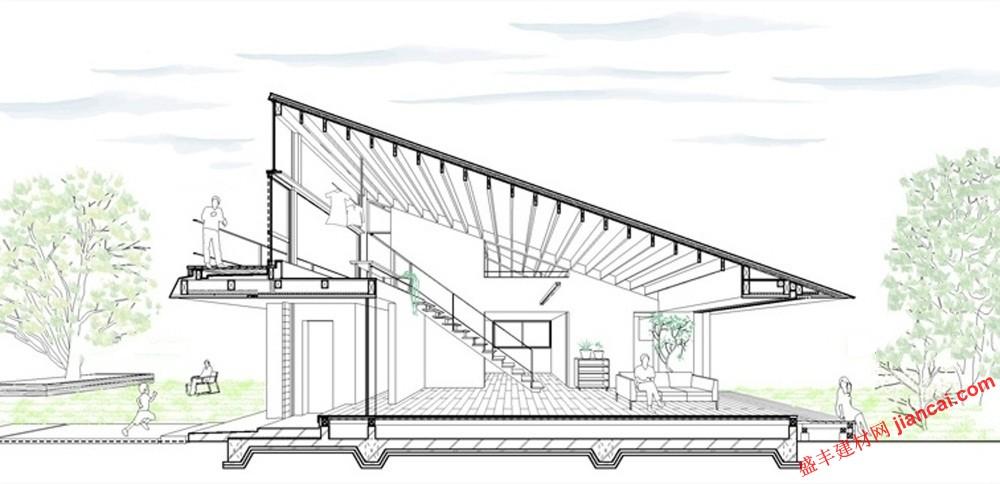 木屋顶结构图示意图