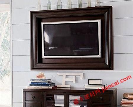 电视框架突出客厅装饰效果