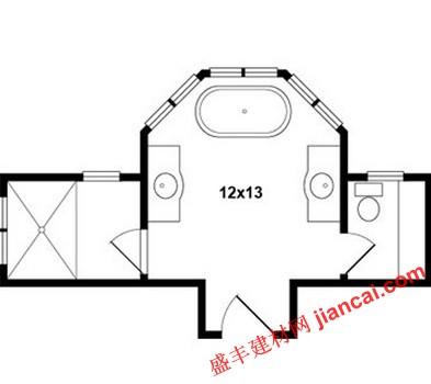 浴室平面图解释合理利用空间