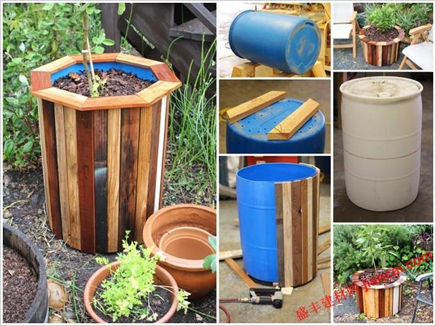 桶花盆:作为时尚和低成本的标志