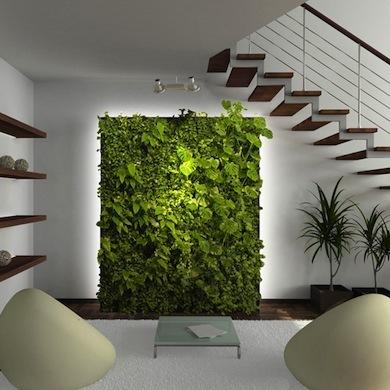 室内手绘绿植墙