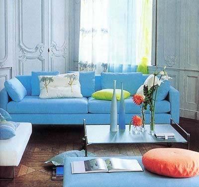 蓝色淡雅 赏8款蓝色调客厅装修效果图