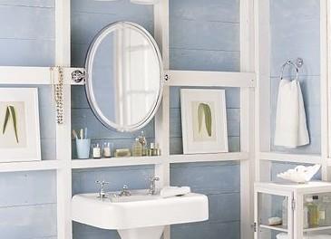 厕所 家居 家具 镜子 设计 梳妆台 卫生间 卫生间装修 装修 365_264