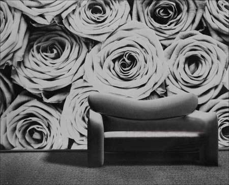 家庭装修墙面新表情 炫彩喷绘壁纸高清图片