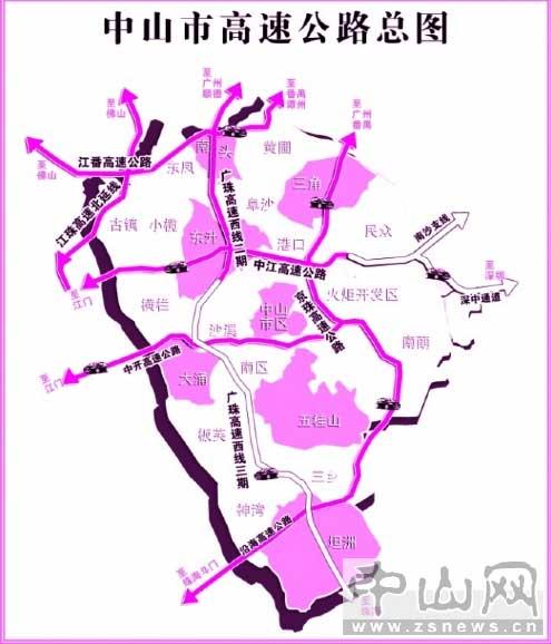 江珠高速北延线与江番高速(规划); 广中江高速公路地图