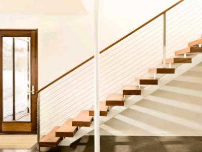 大到整个空间格调,栏杆的形式,小到楼梯扶手 的款式,踏步的形式及灯具图片